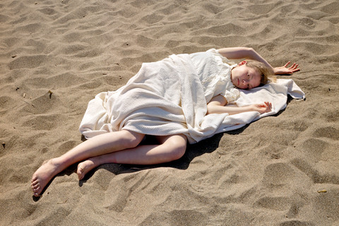 Katy Grannan, Claire (Burned), Baker Beach, 2006