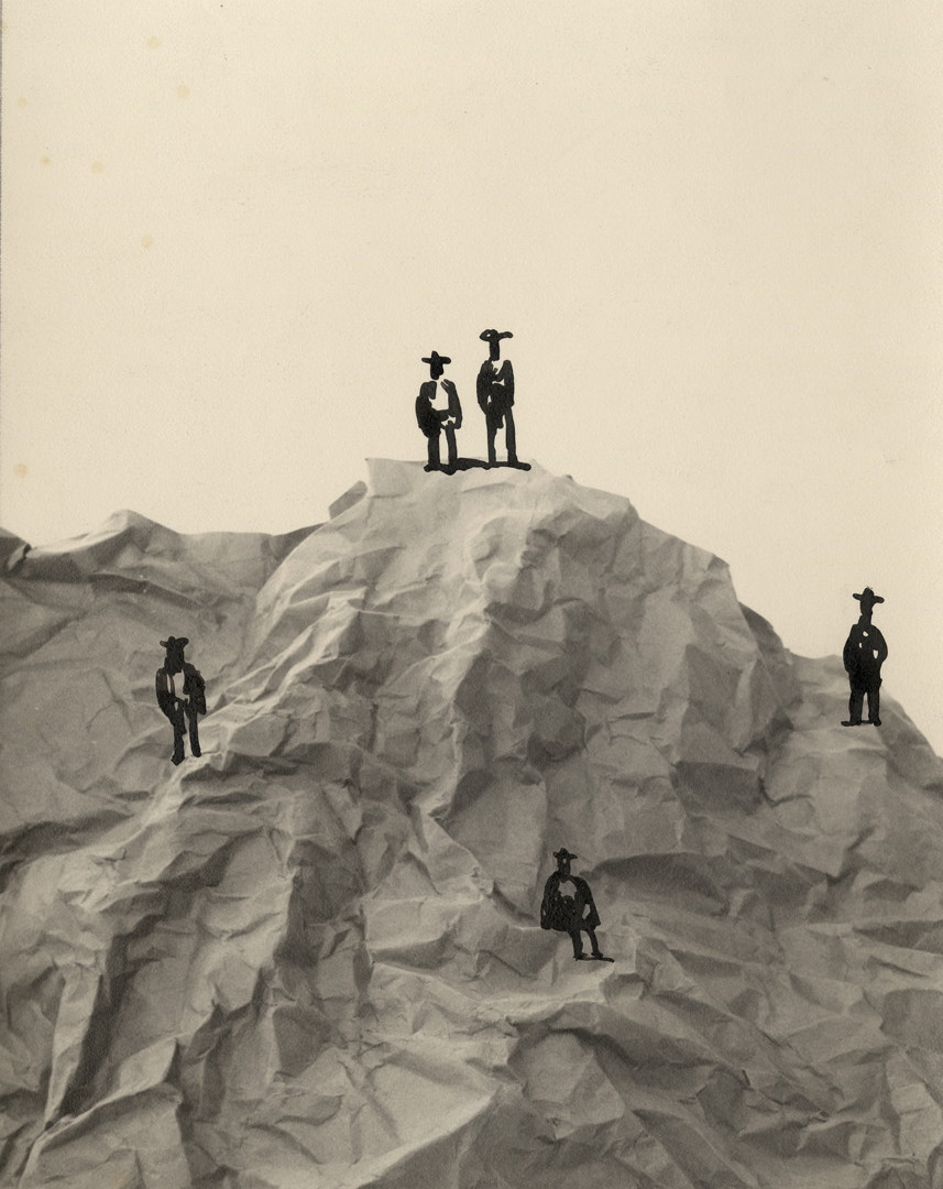 Saul Steinberg, Five Figures in a Landscape, 1951
