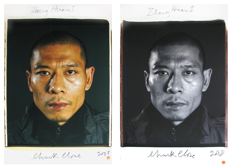 Chuck Close, Zhang Huan, 2008