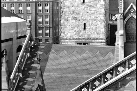 Nicholas Nixon, View of the Old South Church, Boston, 2009