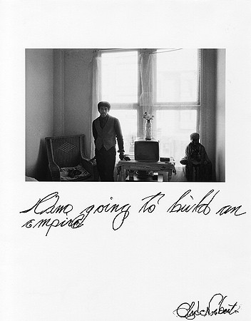 Jim Goldberg, Untitled (I am going to build ...), 1977
