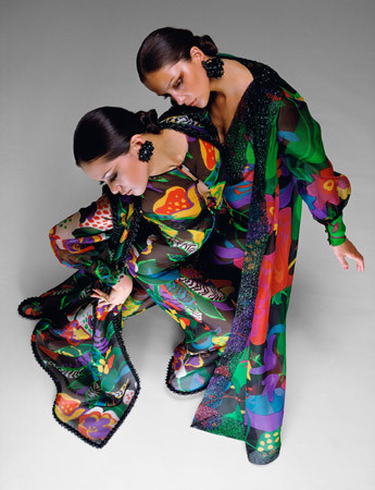 Hiro, James Galanos, Dresses, Harper's Bazaar, New York, 1969