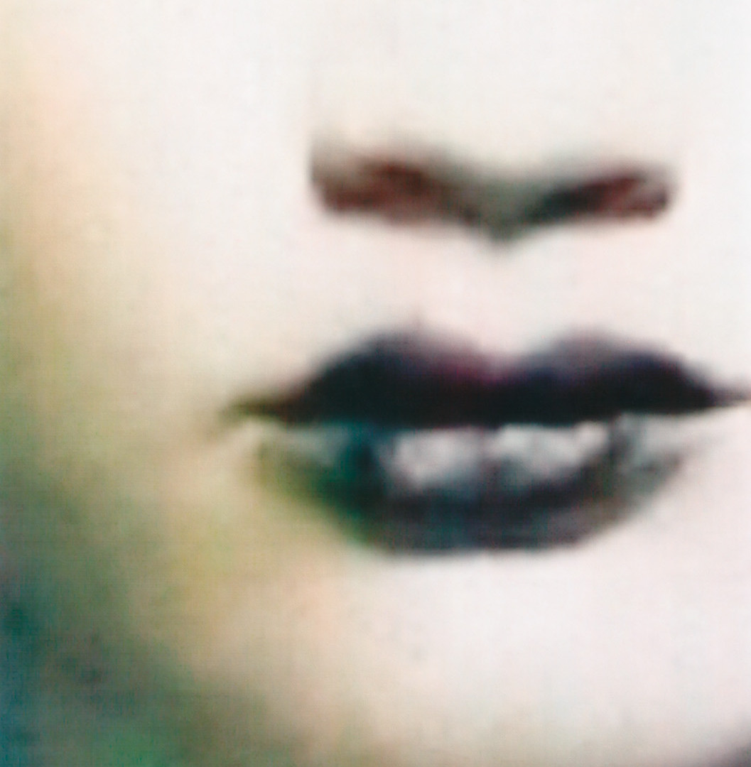 Paolo Roversi, Guinevere with purple lips, Paris, 1996