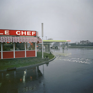 Paul Graham, Little Chef in Rain, St. Neots, Cambridgeshire, May, 1982