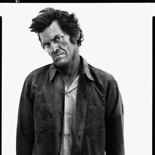 Richard Avedon, James Kimberlin, Drifter, State Road 18, Hobbs, New Mexico, October 7, 1980