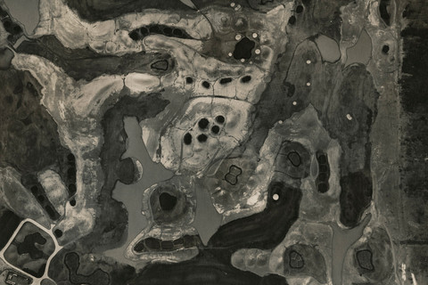 Emmet Gowin, Golf Course Under Construction, Arizona, 1991