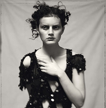 Paolo Roversi, Guinevere in black dress, Paris, 1996