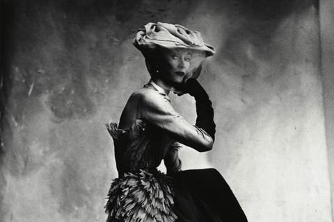 Irving Penn, Cocoa-Colored Balenciaga Dress (Lisa Fonssagrives-Penn) (A), Paris, 1950