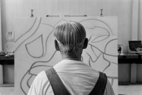 Duane Michals, Willem de Kooning, 1985