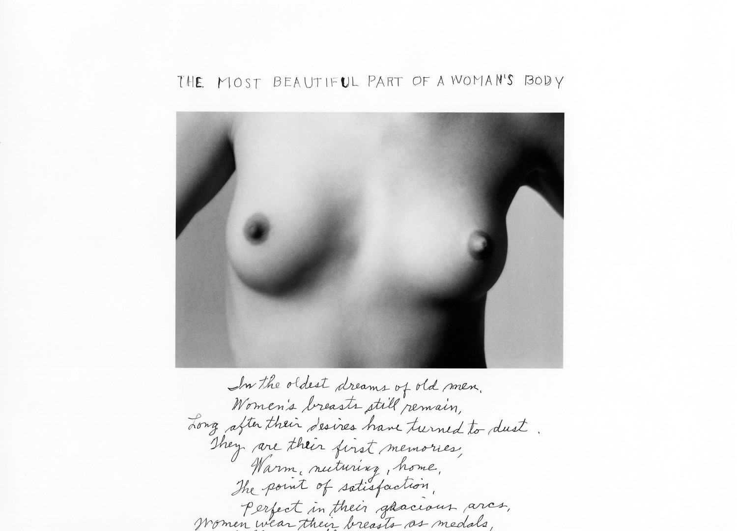 Duane Michals, The Most Beautiful Part of a Woman's Body, 1986