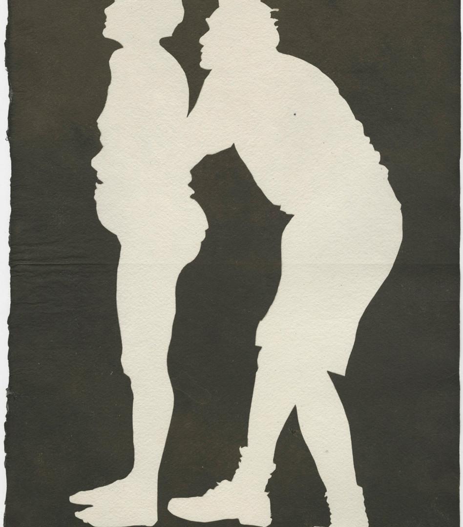 Emmet Gowin, Double Portrait (Holding), 2003