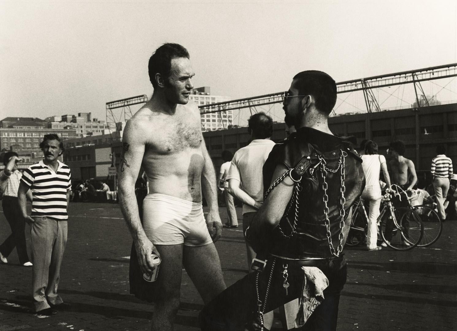 Peter Hujar, Men on Christopher Street Pier, 1976
