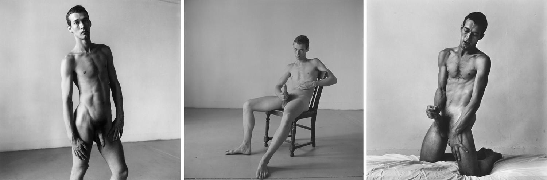 Peter Hujar, Nude Triptych: Bruce de Saint Croix, 1976