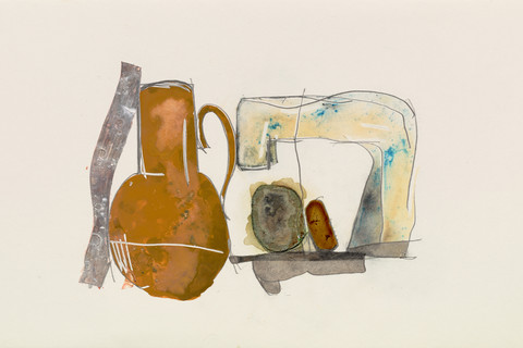 Irving Penn, Pitcher and Sewing Machi