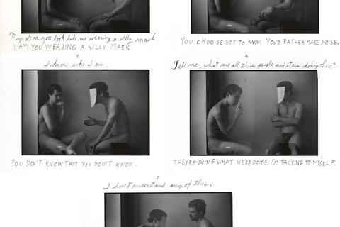 Duane Michals, A Man Talking to God, 1975