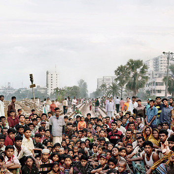 Jim Goldberg, I asked who wants to go to Europe, Bangladesh, 2007