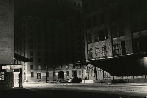 Peter Hujar, Loading Dock at Night, 1976