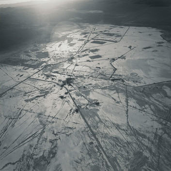 Emmet Gowin, Frenchman Flat, Looking Southeast, Nevada Test Site, 1996