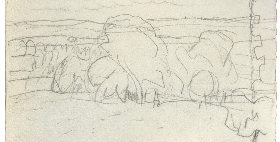 Pierre Bonnard, Etude de Paysage, n.d.