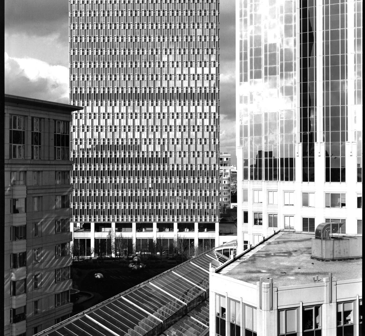 Nicholas Nixon, View of Prudential Building, Boston, 2008
