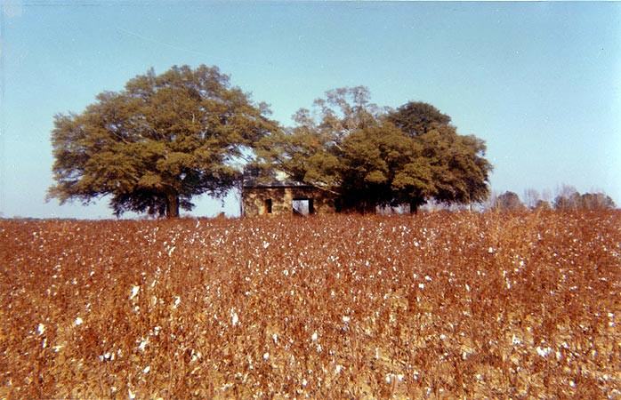 William Christenberry, Abandoned House in Field, near Montgomery, Alabama, 1971