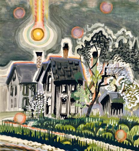 Charles Burchfield (1893-1967), Sun Setting in a Bank of Smoke, 1917