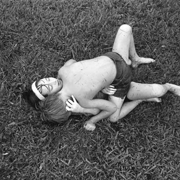 Emmet Gowin, Nancy and Dwayne, Danville, Virginia, 1970