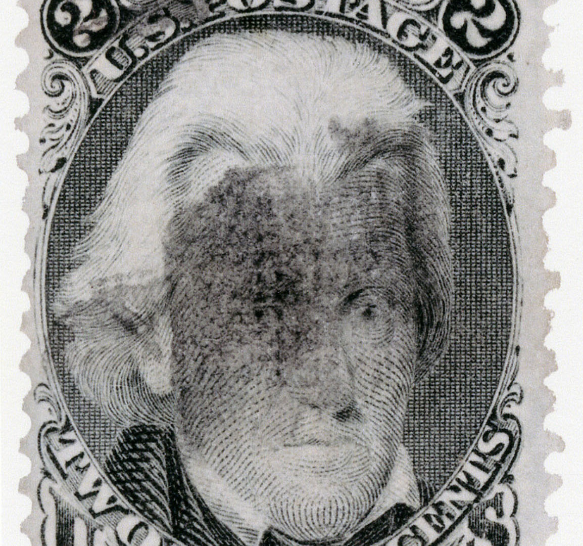 Richard Benson, Andrew Jackson stamp with fancy cancel, 2013