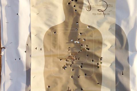 Richard Misrach, Border Patrol target #26, near Gulf of Mexico, Texas / Blanco de la Patrulla Fronteriza no. 26, cerca del golfo de México, Texas, 2014