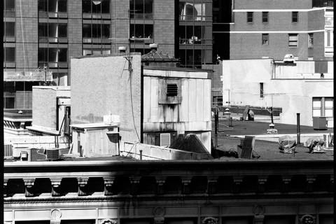Nicholas Nixon, North View from Washington at Arch Street, Boston, 2008