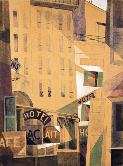 Charles Demuth (1883-1935), Hotel, 1921