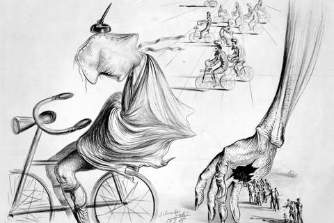 Salvador Dalí (Spanish, 1904-1989), The Bicyclists, 1935
