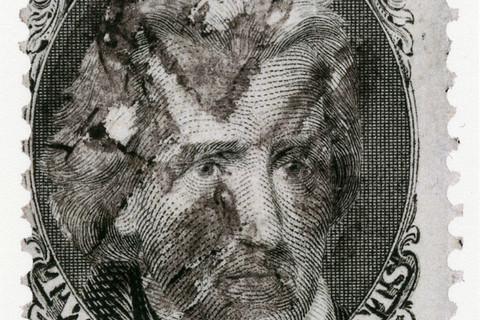 Richard Benson, Andrew Jackson stamp with fancy cancel, 2013