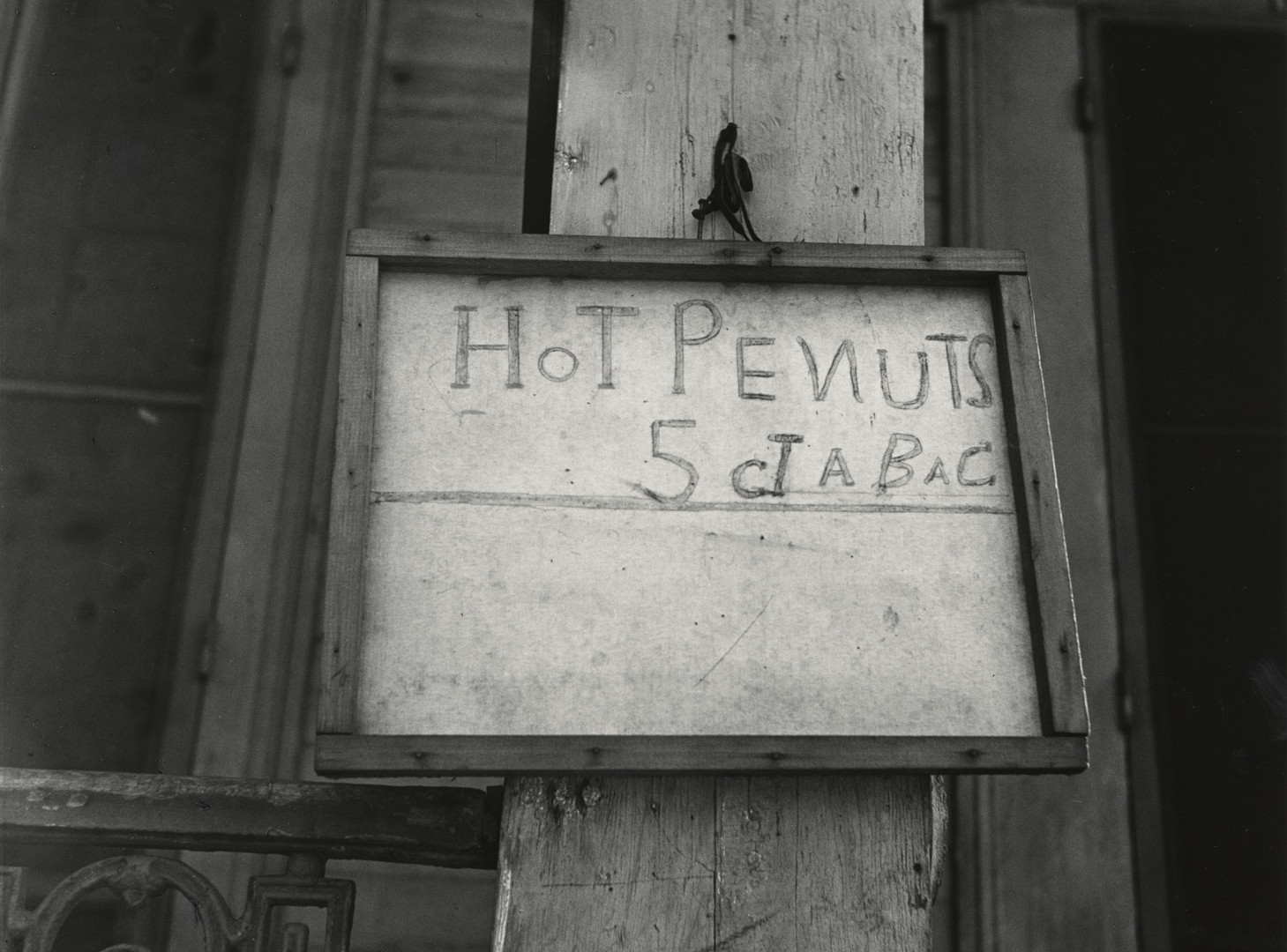 Irving Penn, (Wall Sign) Hot Penuts, American South, 1941