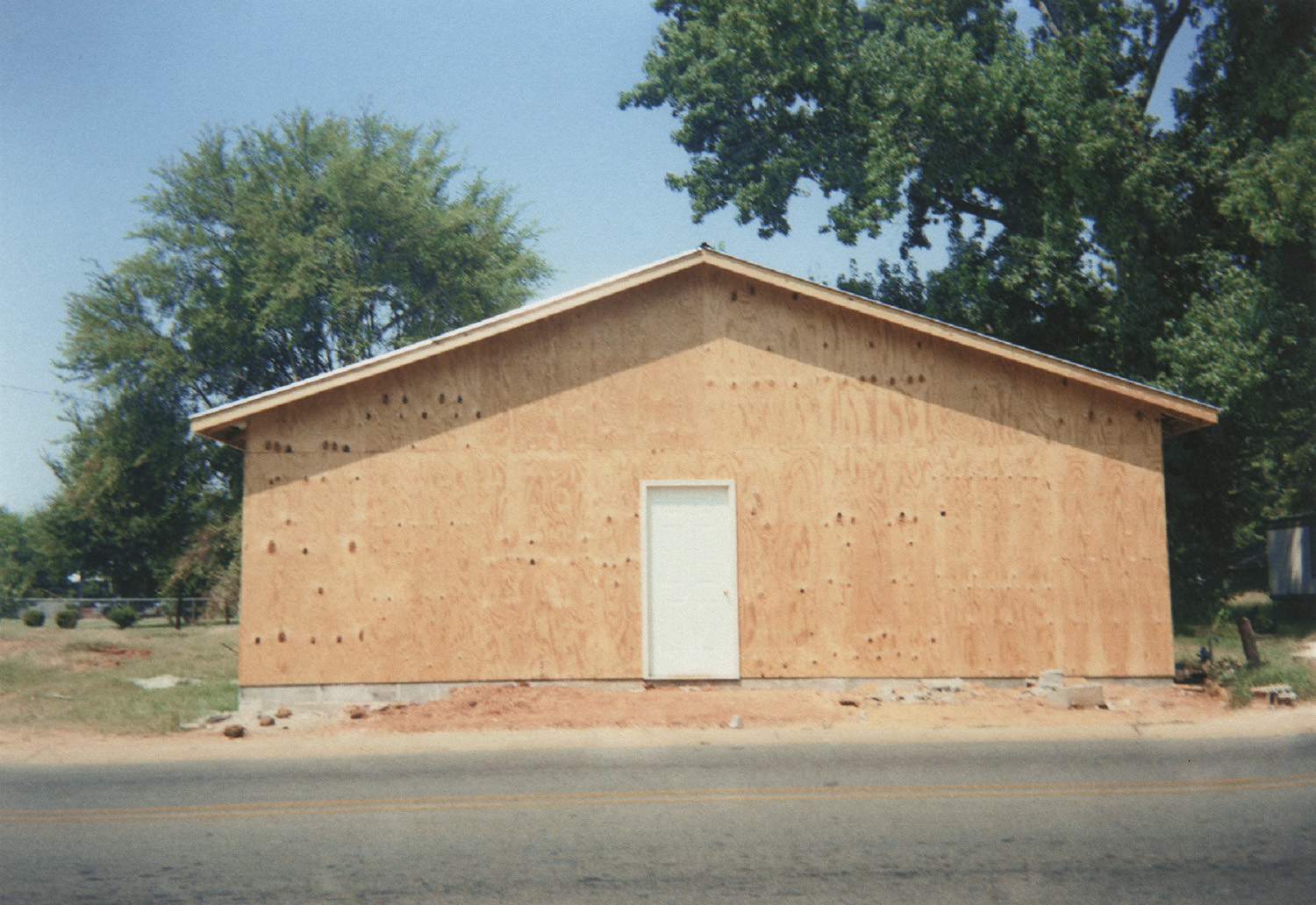 "William Christenberry, Building that Replaces ""The Underground Club,"" Greensboro, Alabama (will become Barry's Place), 1999"