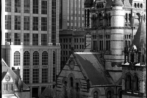 Nicholas Nixon, View of Trinity Church, Boston, 2009