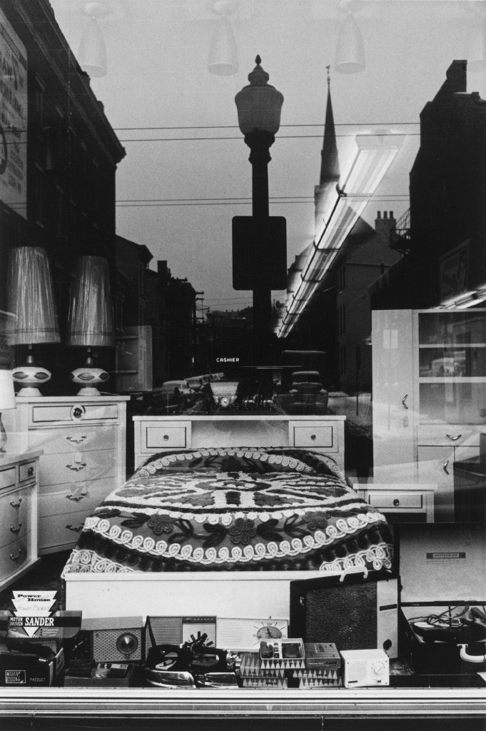 Lee Friedlander, Cincinnati (Bed in Window), Ohio, 1963