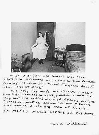 Jim Goldberg, Untitled (I am a 29 year old ...), 1978
