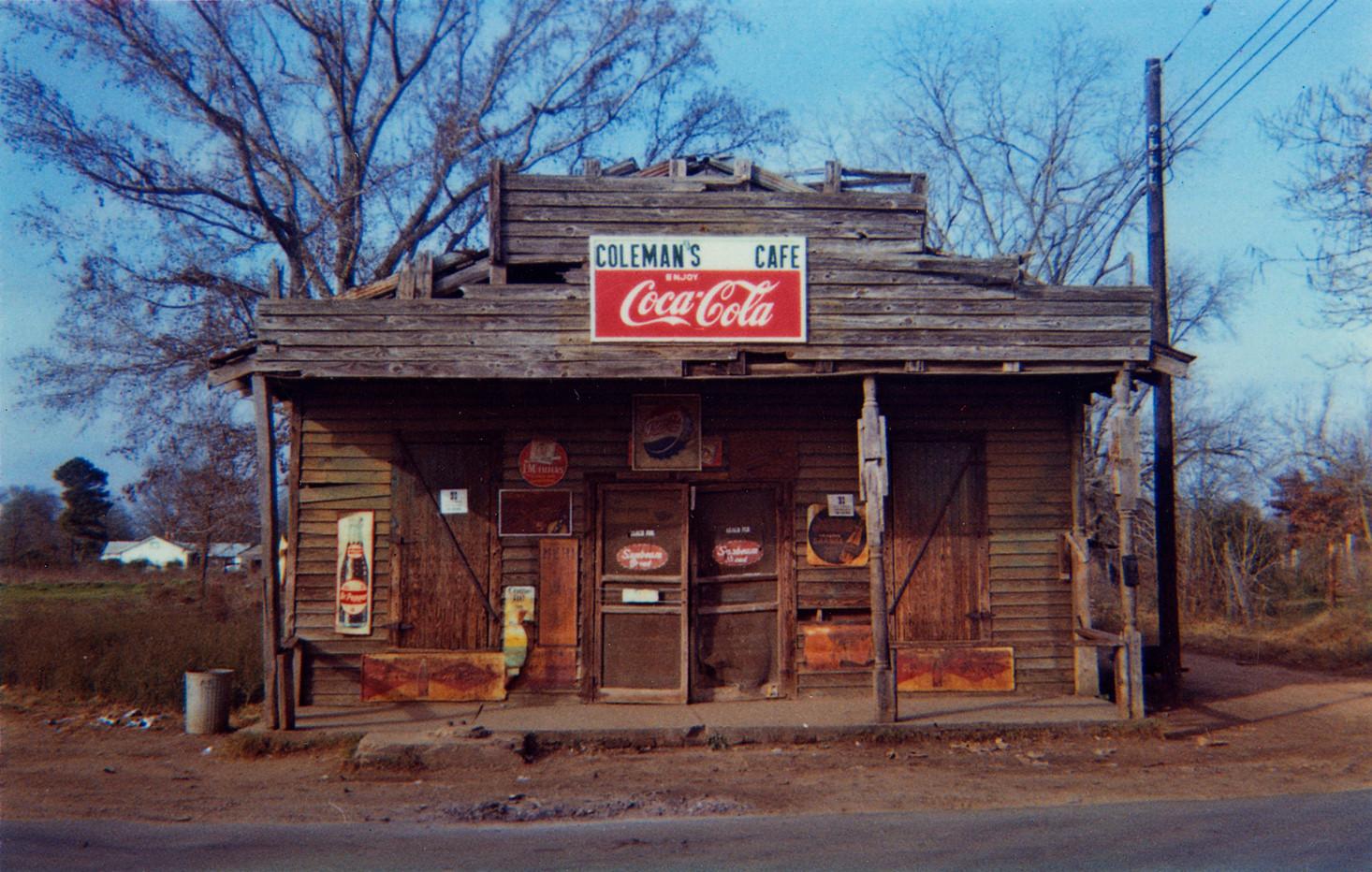 William Christenberry, Coleman's Cafe, Greensboro, Alabama, 1971