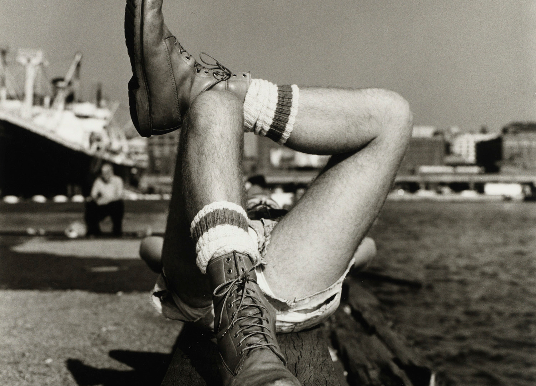 Peter Hujar, Christopher Street Pier #2 (Crossed Legs), 1976
