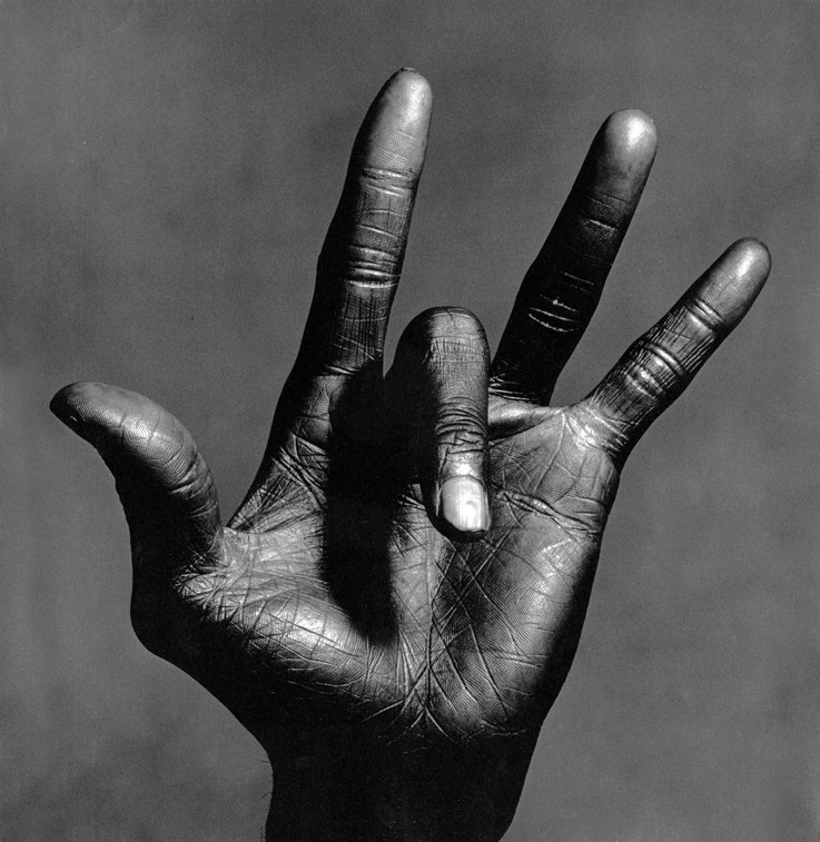 Irving Penn, The Hand of Miles Davis, New York, 1986