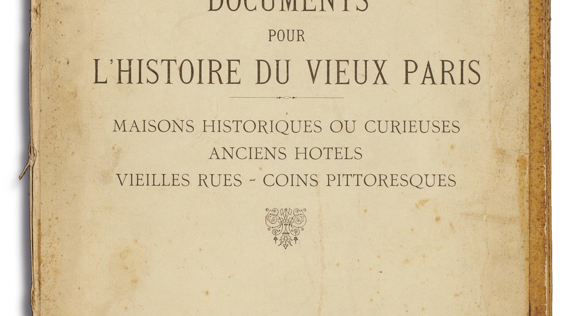 Eugène Atget, Documents pour l'histoire du Vieux Paris, c. 1910