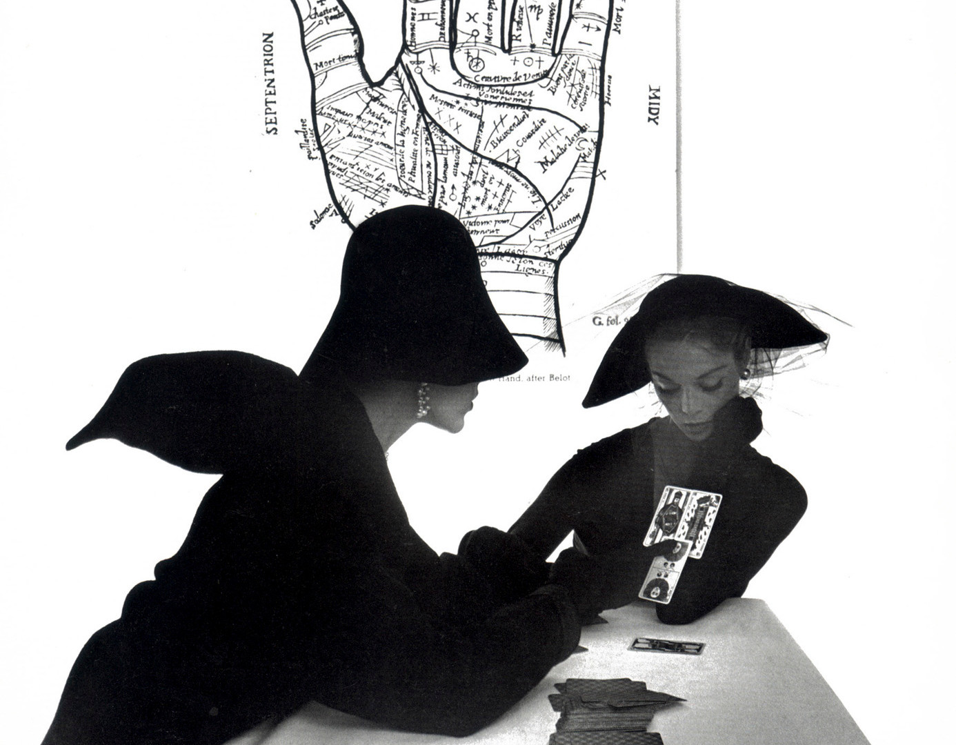 Irving Penn, The Tarot Reader (Jean Patchett & Bridget Tichenor), 1949