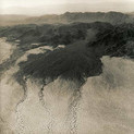 Emmet Gowin, Alluvial Fan, Natural Drainage near the Yuma Proving Ground and the Arizona-California border, 1988