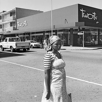 David Goldblatt, On the corner of Commissioner and Eloff Streets. , 1979