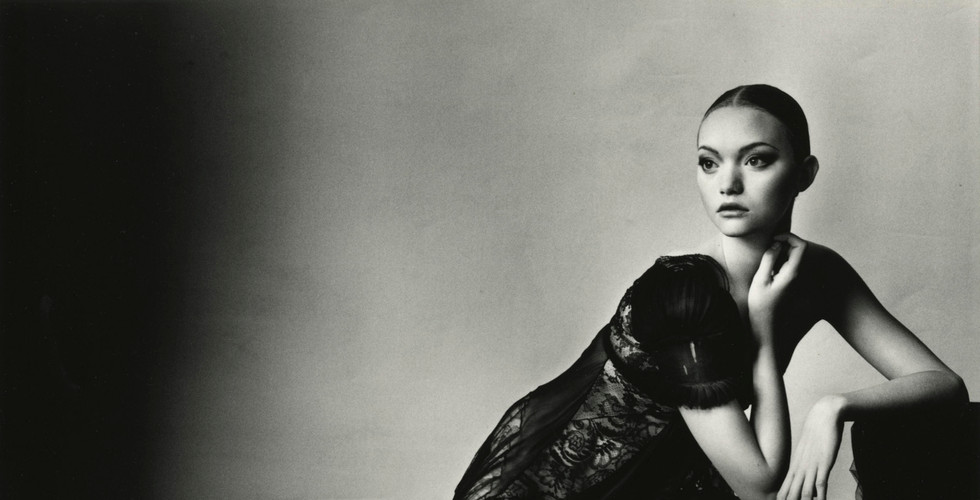 Irving Penn, Balenciaga Black Lace Dress (B) (By Ghesquiere), New York, 2005