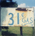 William Christenberry, 31 Cent Gasoline Sign, near Greensboro, Alabama, 1964