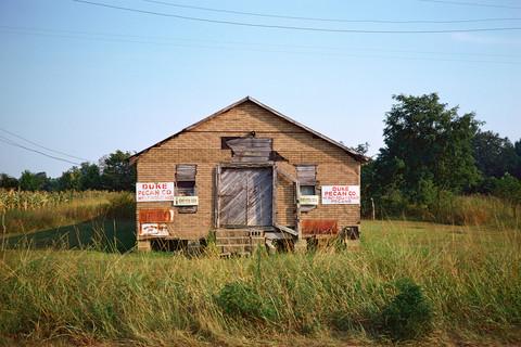 William Christenberry, Building Near Eutaw, Alabama, 1974