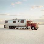 Richard Misrach, World's Fastest Mobile Home (96 MPH), Bonneville Salt Flats, 1992