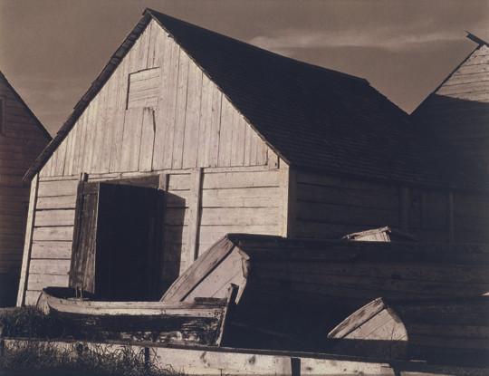 Paul Strand (1890-1976), Boat Houses, Wolf River, Gaspe, Quebec, 1936